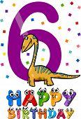 Sixth Birthday Cartoon Design