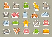 Pet care icon set