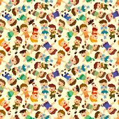 foto of flogging  - cartoon child jump seamless pattern eps vector file and big jpg file  - JPG