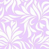 Seamless pattern with white tracery on a lilac background
