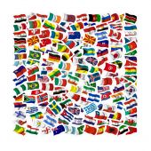 Collection Of Flags On A White Background