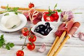pic of antipasto  - italian appetizer  - JPG