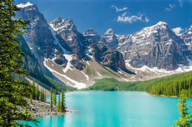 pic of lp  - Majestic mountain lake in Canada - JPG
