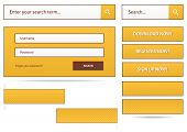 Set Of Web Buttons And Forms