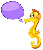 Illustration of a close up seahorse