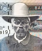NAMIBIA - CIRCA 2001: Hendrik Samuel Witbooi (1906-1978) on 10 Dollars 2001 Banknote from Namibia.  6th Kaptein of the IKhowesin, a subtribe of the Orlam, in Namibia.