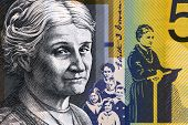 AUSTRALIA - CIRCA 2009: Edith Cowan (1861-1932) on 50 Dollars 2009 from Australia. Australian politician, social campaigner and the first woman elected to Australian parliament.