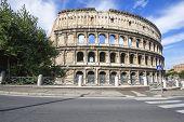 Roman coliseum historic monument