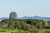 Yanqi Lake BEIJING, CHINA -  SEPT 27: Sunrise Oriental Hotel and golf course, Sept 27, 2014 in Yanqi Lake Beijing, China. Here will host the APEC CHINA 2014