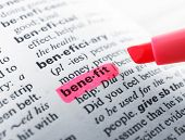 Pink marker highlighting word in dictionary