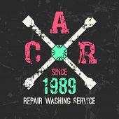 Car Service Wheel Brace Emblem