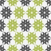 Stylized Floral Pattern. Green And Gray Flower