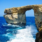 Natural rock arch in Malta Island