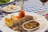 Beef Steak With Mushroom Sauce Meal