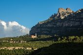 Overview Of Sant Benet Monastery In Montserrat