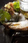 Mug Of Beer And Dried Fish