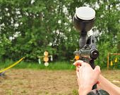 Paintball Gun In Action