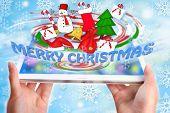 Merry Christmas Display On Tablet Pc