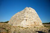 Famous Prehistoric Monument At Menorca