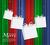 Abstract Christmas card with gifts.