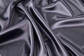 Texture of Black silk background.