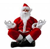 stock photo of cross-dress  - Santa Claus in meditation as she prepares for Christmas - JPG