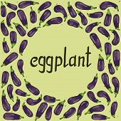 round frame with eggplants