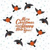 Christmas round dance bullfinches