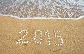 New Year On The Sea Beach