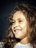 Cute Little African-american Girl Portrait