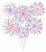 pic of firework display  - Fireworks display illustration for newyear celebration festival - JPG
