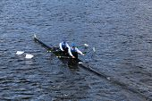 Copenhagen rowing with Bo Vestergaard and Jakob Ojvind Nielsen race in the Head of Charles Regatta