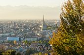 Turin from above in autumn