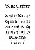 Blackletter gothic script hand-drawn font