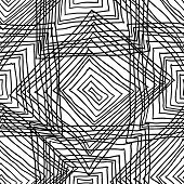 Abstract geometric seamless monochrome background