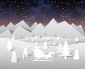 Digitally generated Christmas vector with cute characters