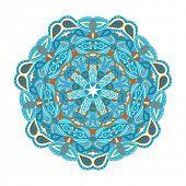 Round vector ornament Mandala. Traditional orient symbol.