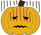 pumpkin face cartoon emotion expression fear