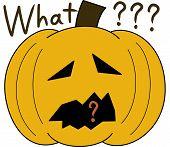 pumpkin face cartoon emotion expression stupid