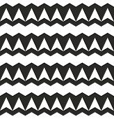 Black and white triangle tile vector pattern or seamless flat wrapping surface geometric background