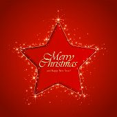 Star On Red Background