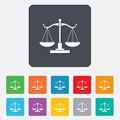 pic of symbol justice  - Scales of Justice sign icon - JPG