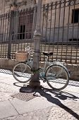 pic of calatrava  - Bike parked in front of the stairs of College of the Immaculate Conception commonly called Calatrava College Salamanca - JPG