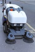 pic of sweeper  - Street sweeper cleaning vehicle for city pavements - JPG