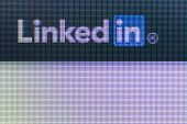 Social Network Linkedin Icon On The Computer Screen
