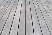 White wooden floor planks at outside house