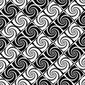 Design Seamless Monochrome Vortex Pattern