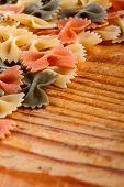 Dry farfalle pasta