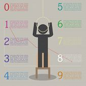 image of stickman  - Infographics of the effects of stress - JPG