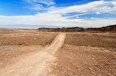 Road Through The Desert To Charyn Canyon